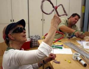 Access art for all session with visually impaired people.   Photo by Vicky Price
